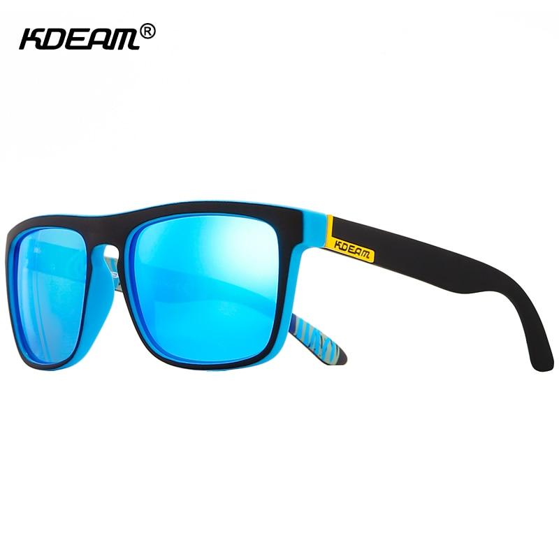 Avec Noir Cas Plat Top lunettes de Soleil Polarisées Carré Inégalée Qualité Cadre de Lunettes De Soleil Hommes Plage lunettes de soleil KDEAM CE