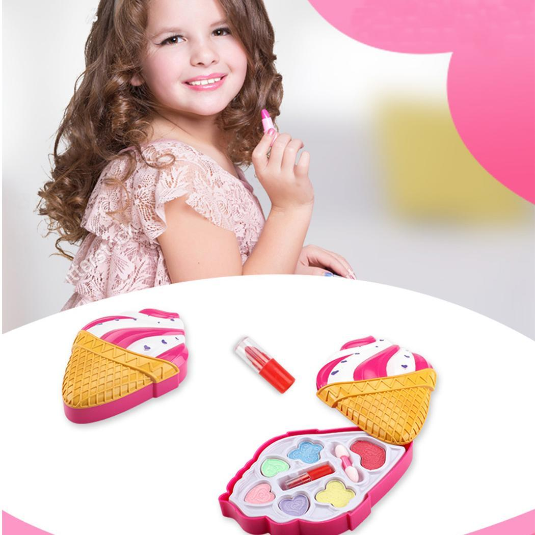 Girls Makeup Kit Non Toxic Play Ice Make-up Cream Shape Cosmetic As Picture Natural Pollen Set 7-14Y