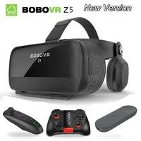 NEW Global Version BOBOVR Z5 Virtual Reality Headset VR Box 3D glasses Cardboard for Daydream smartphones Full package GamePad