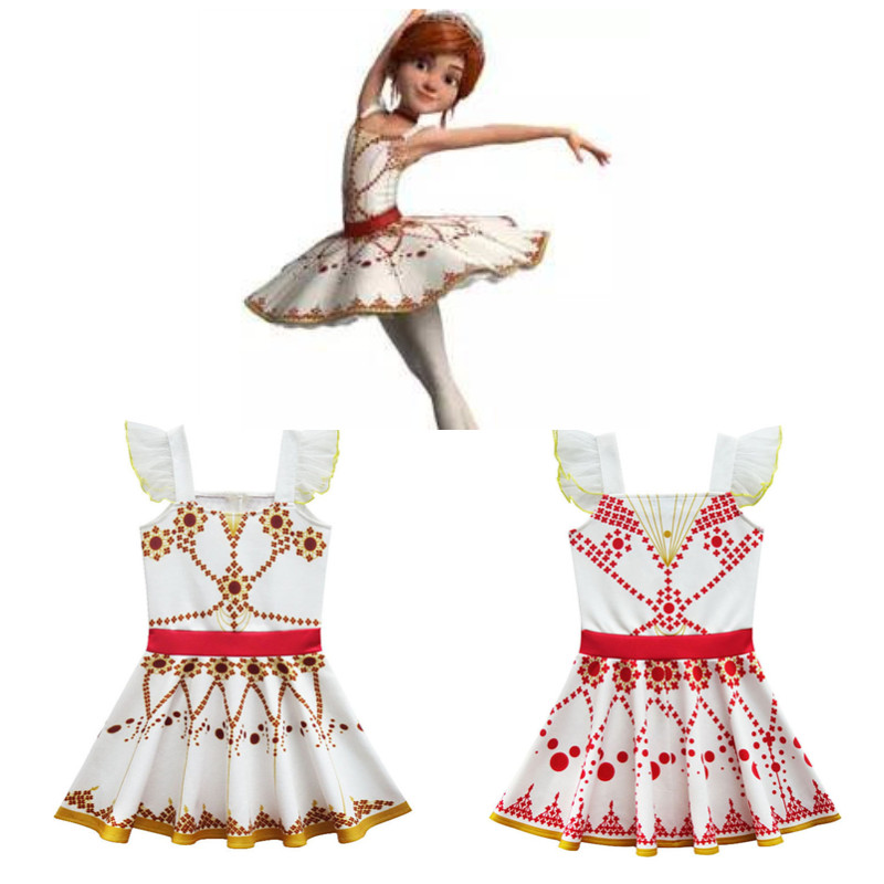 Cute Girl Ballet Felicie Dress Cosplay Kids Costume Halloween Dress for Kids Sleeveless Dress for Holiday Party Cosplay Maxi Dre