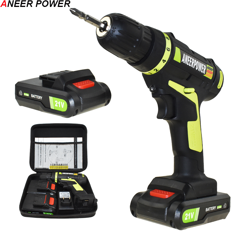 21v Power Tools Screwdriver Electric Cordless Drill Electric Drill Electric Screwdriver Mini Drill 1.5Ah Batteries Capacity Eu free shipping brand proskit upt 32007d frequency modulated electric screwdriver 2 electric screwdriver bit 900 1300rpm tools