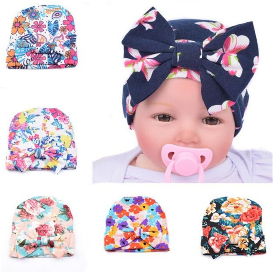 76b34f7bb9b newborn hat Baby Hats With Flower Bowknot Flower kids hats Hospital Hat baby  bonnet baby caps topi bayi-in Hats   Caps from Mother   Kids on  Aliexpress.com ...