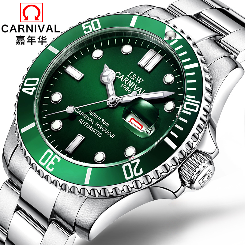 Authentic fiesta waterproof watch men s automatic mechanical watch fashion luminous calendar