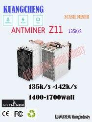 En Stock Antminer Z11 135k Sol/s 1418W con BITMAIN 1800W PSU Equihash minero mejor que Antminer Z9 S9 S11 S15 Innosilicon A9
