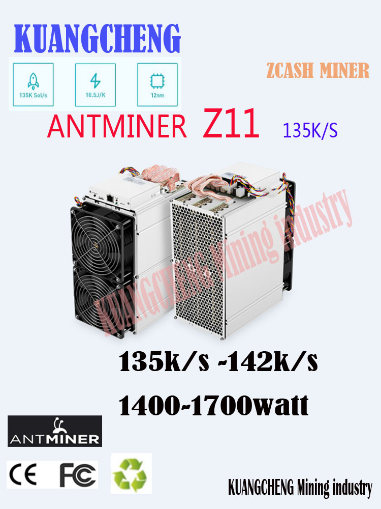 In Magazzino Antminer Z11 135k Sol/s 1418W Con BITMAIN 1800W PSU Equihash Minatore Meglio di antminer Z9 S9 S11 S15 Innosilicon A9