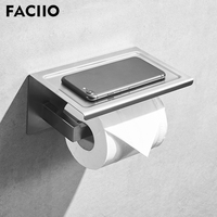 FACIIO Bathroom Single Phone Stand Layer Toilet Paper Holders Paper Towel Holder Wall Mounted Hardware Paper Holder wc rolhouder