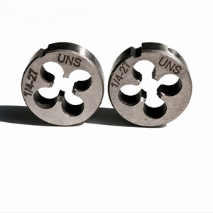 """Image 3 - Free shipping of 2PCS of alloy steel made UNC/UNS/UNEF manual dies 1/4"""" 20 24 27 28 32 36 40  for hand threading metal workpiece"""