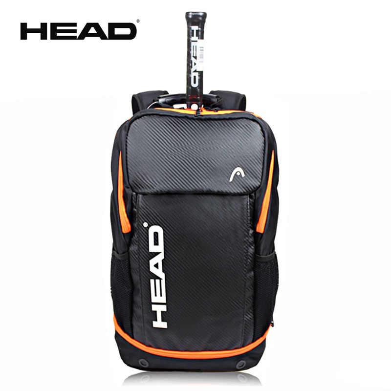 bf471ed87a6f Оригинальная головка сумка для теннисных ракеток бадминтон Raquete  спортивный рюкзак тренировки рюкзак с обувь сумка Tenis