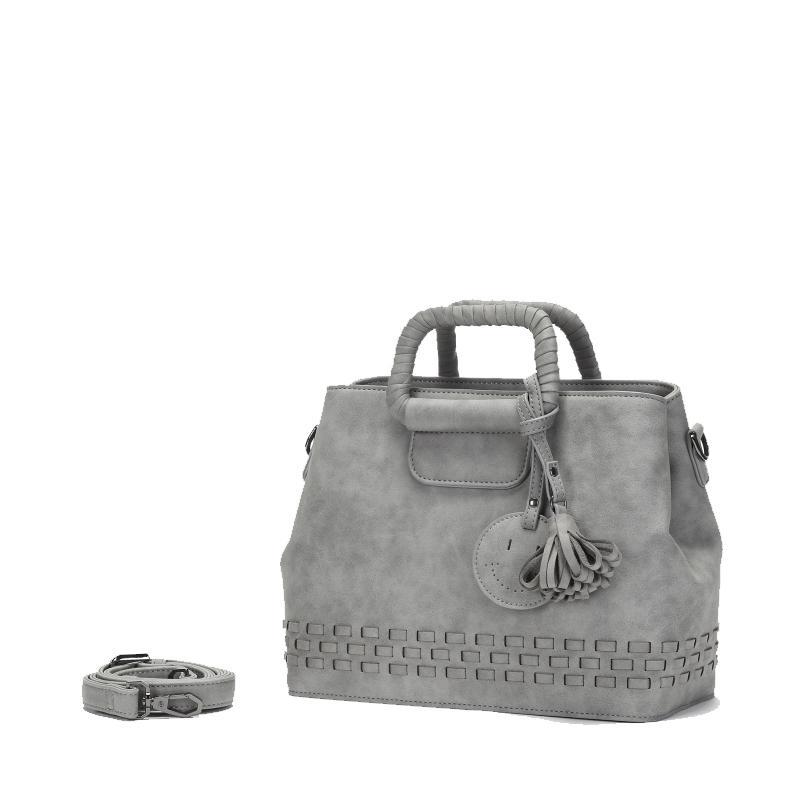Rétro gris Business Banquet mode femmes Sac tissage gland bijoux bandoulière Messenger sacs confortable Sac à main Sac Femme