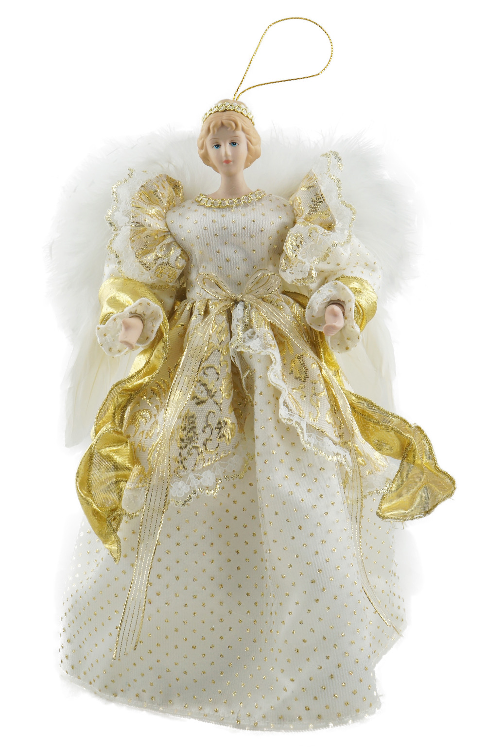 Christmas Angel Tree Topper.Cosette Christmas Angel Tree Topper Porcelain Doll Tree Ornament 12 Inches 30 Cm Height Decorated Christmas Ornaments Decorated Homes For Christmas