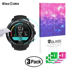 3Pcs for Suunto D5 Dive Computer Smartwatch Tempered Glass Full Screen Protector Clear Anti Scratch Anti Shatter Protective Film
