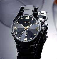 Relogio Montre Femme Severler Siyah Seramik Elbise İzle Kuvars İş Takvimi Saatler Çiftler Roma Saat Kristaller Reloj NW2891