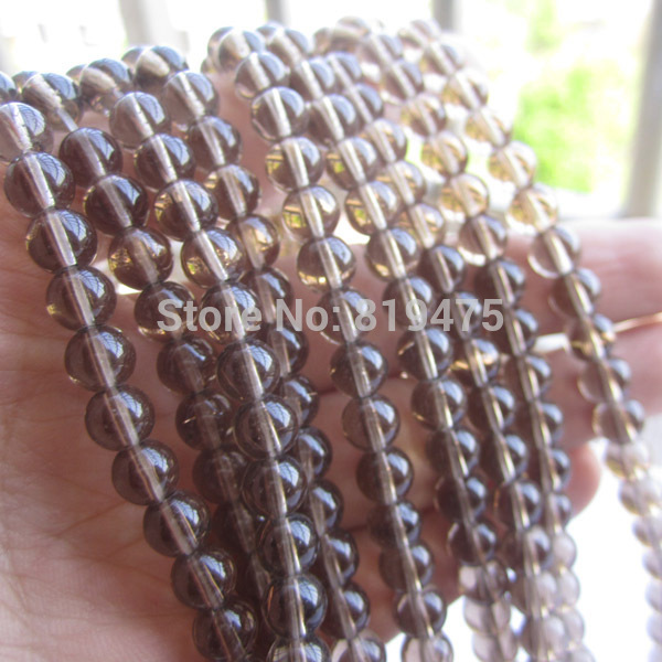 6 8 10mm Glass Beads Round Clear Light Brown color for jewelry making