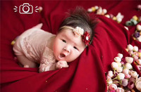 baby girl lace beanie and ropmer Lene Mini Brand newborn babt Clothes hat + clothes Newborn Photography Prop white color