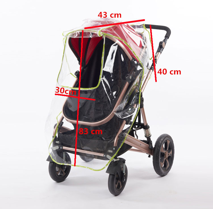 Waterproof Transparent Windproof Zipper Buggy Cover