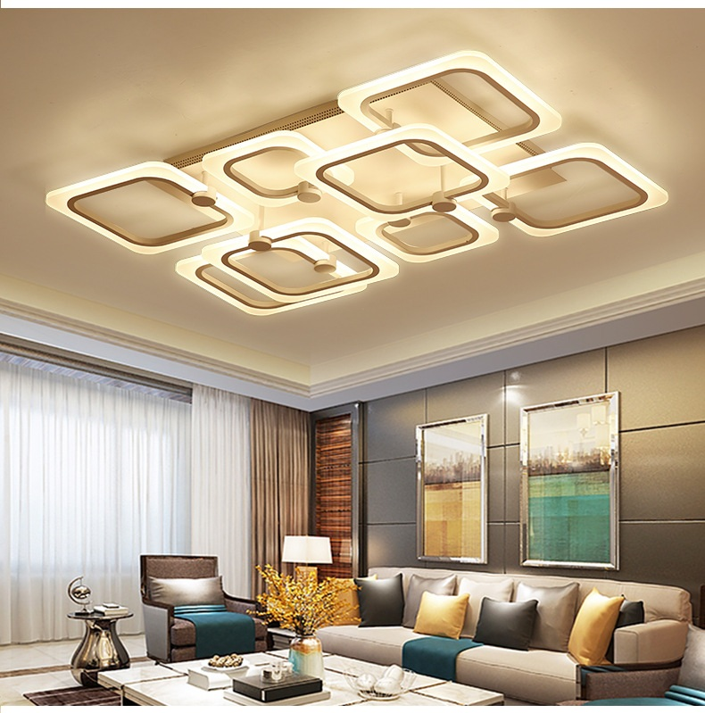 Modern Acrylic Simple LED Ceiling Light Living room bedroom study restaurant office aisle ceiling lamp title=