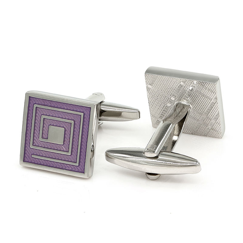 Lavender Metal Square Purple Enamel Paint Cuff Links Mens Shirt Cufflinks In Tie Clips From Jewelry Accessories On Aliexpress Alibaba