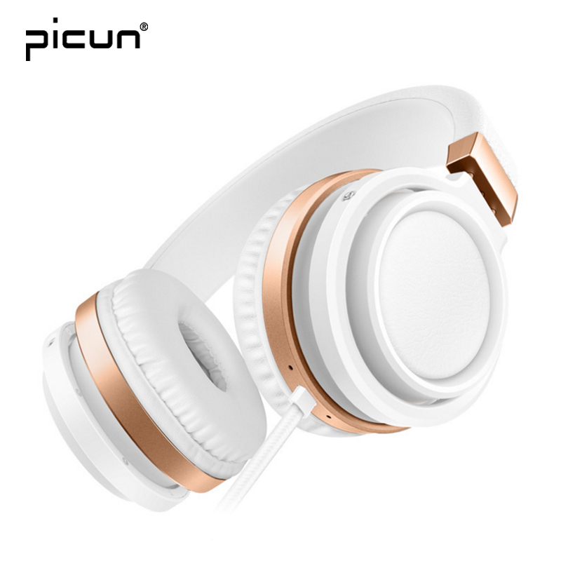 Picun Wired Headphones 3.5mm Jack Gaming Headset Stereo Earphones Bass Music Headphone with Mic For Phone MP3 Computer PC 2017 hoco professional wired gaming headset bass stereo game earphone computer headphones with mic for phone computer pc ps4