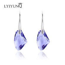LYIYUNQ Europe and America Hot Sell Party Geometric Jewelry Fashion Crystal Earring Long Earrings For Women