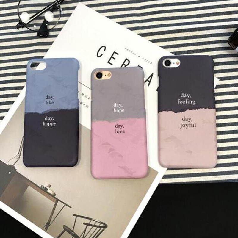 Fundas For iphone Spell Color Characters PC Cover Hard Plastic Case For iphone 6 S 6S 6Plus 7 7Plus 8Plus 8 Plus Phone Case