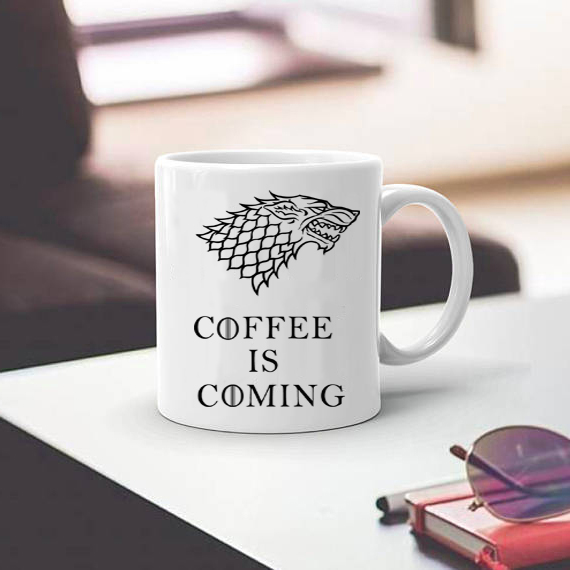 Stark mugs game of thrones cup coffee is coming mug cups for Best coffee mugs for home