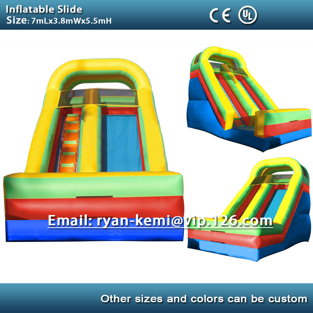7m giant inflatable slide for adult for sale inflatable toys inflatable slide China with blower цена