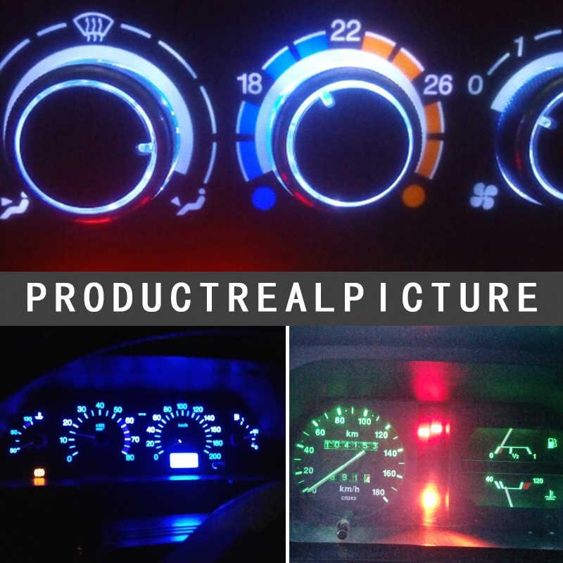 1 יחידות T5 COB רכב לוח מחוונים אור מכשיר רכב דלת טריז מד קריאת מנורת הנורה רכב סטיילינג לבן כחול 12 v רכב סטיילינג