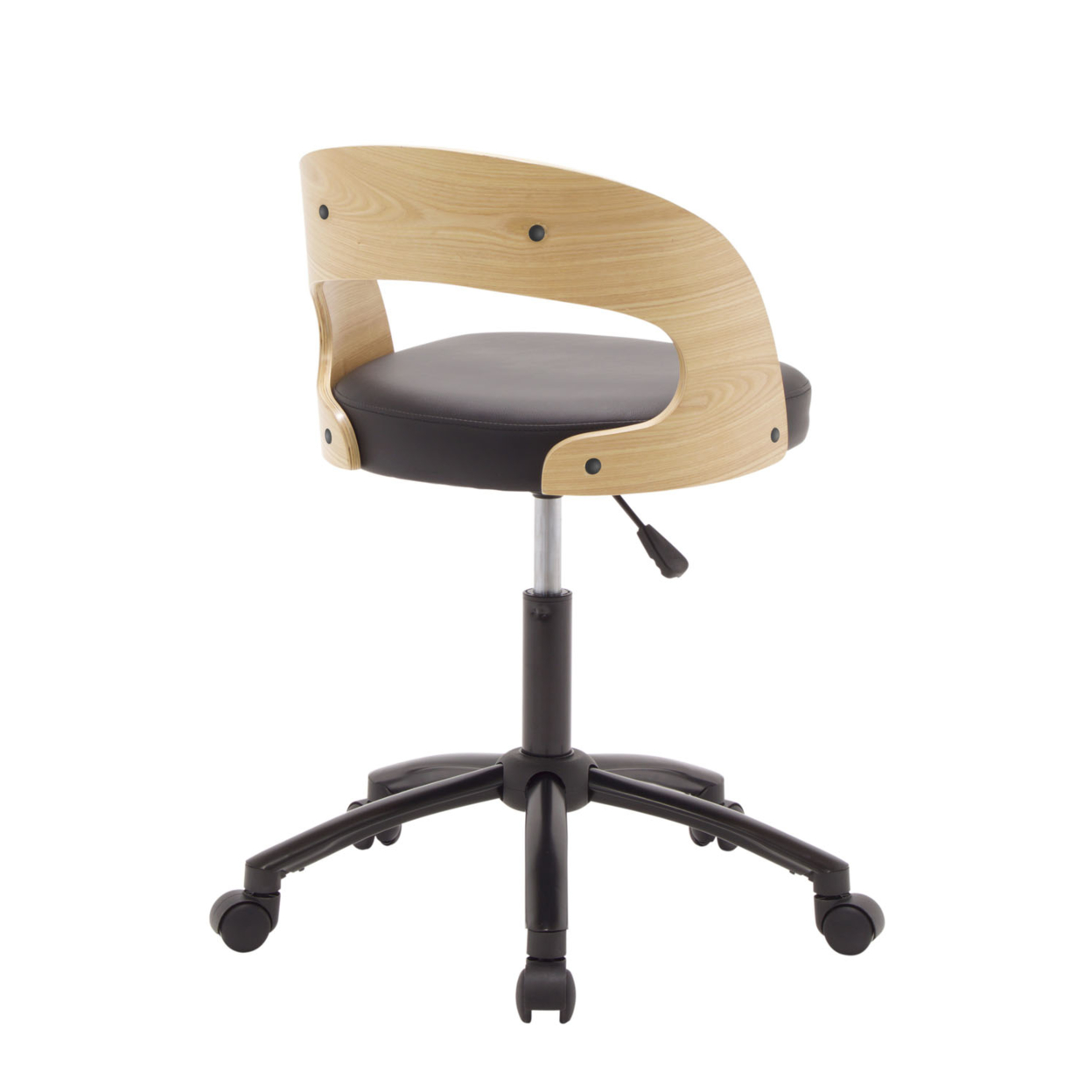 Offex Home Office Ashwood Chair - Black/Ashwood offex home office plinth ottoman latte