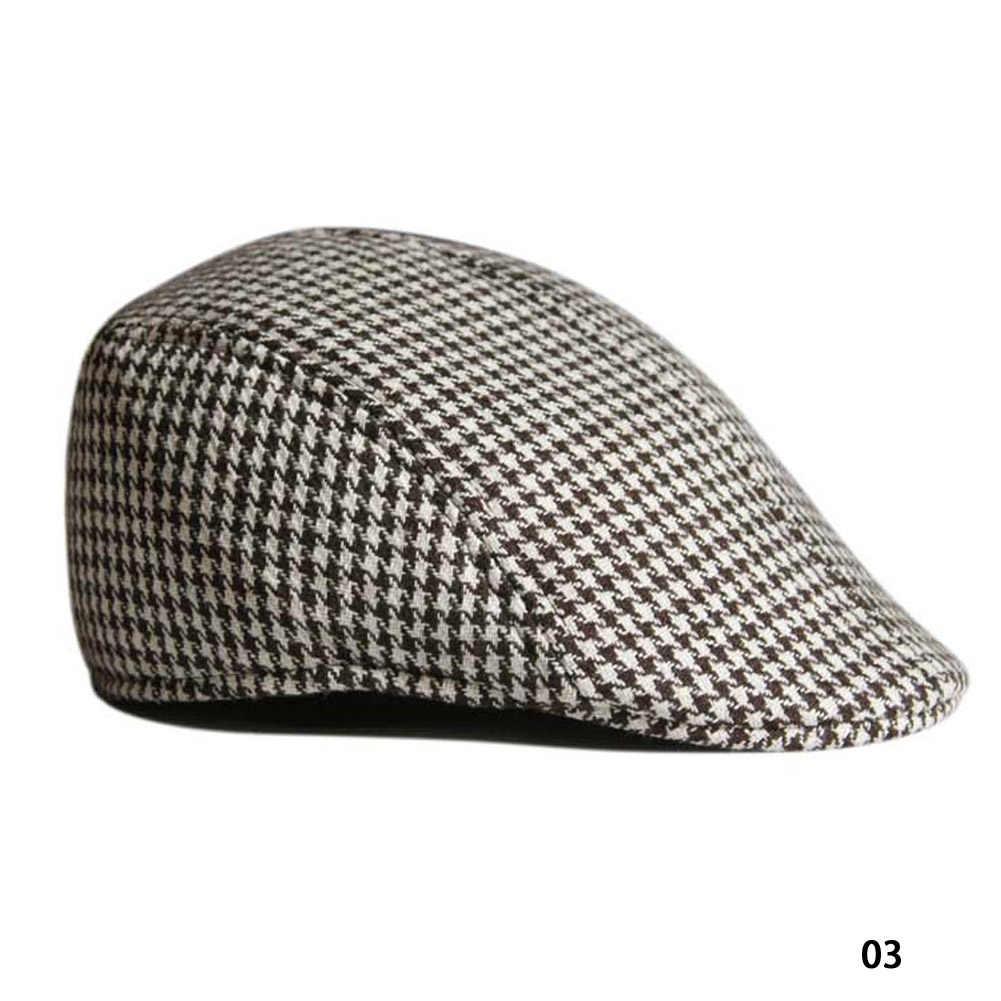 524a3074b71 New Winter Beret Mens hat Baker Boy Peaked NewsBoy Berets Country Outdoors Golf  Hat Beret Flat
