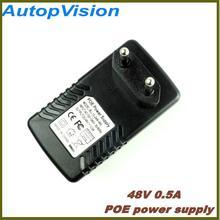 PoE Power Supply EU/US/UK Plug Surveillance CCTV Security 48V 0.5A 24W POE Wall Plug POE Injector Ethernet Adapter IP Camera Pho