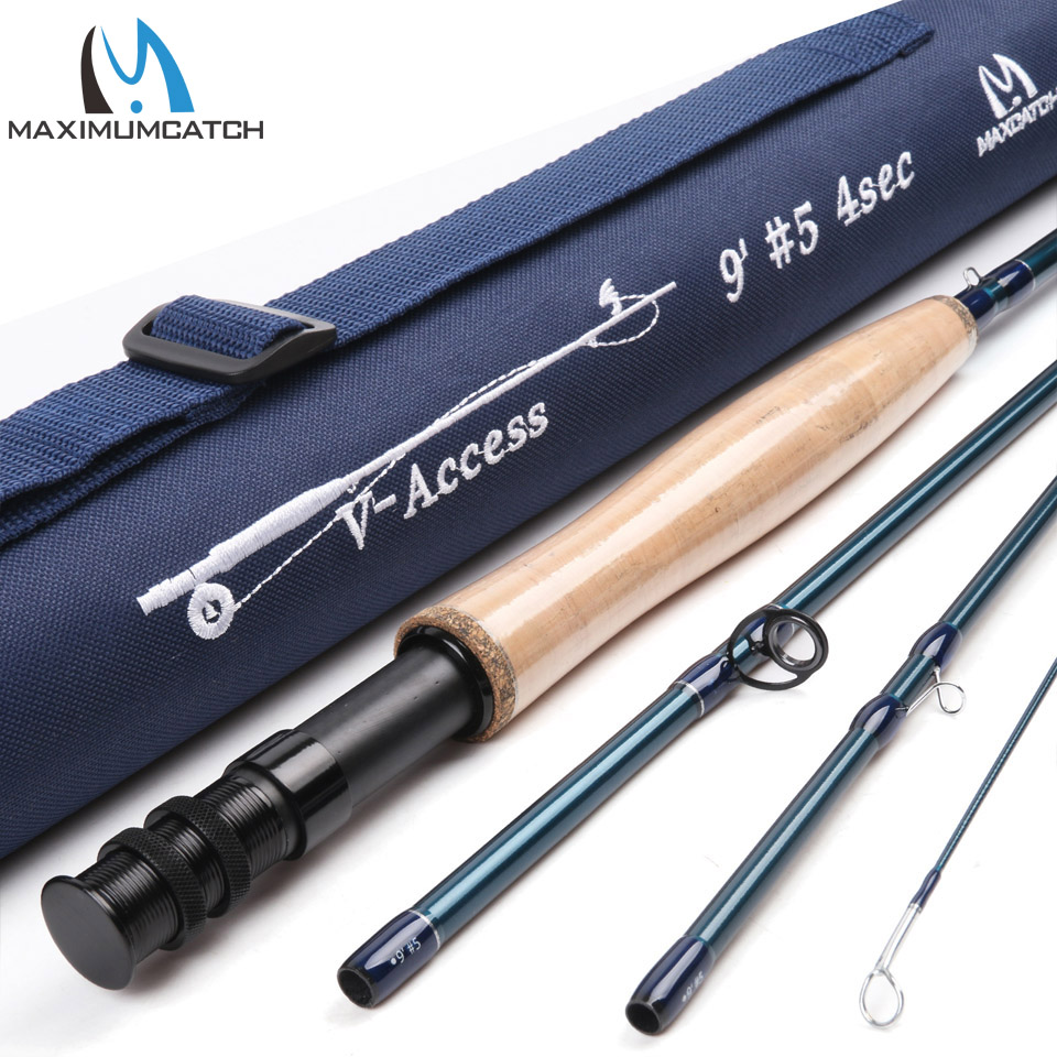 Maximumcatch 3/4/5/6/7/8/9/10/12 Fly Fishing Rod Fly Fishing Rod Fast Action With Cordura Tube Carbon Fly Rod