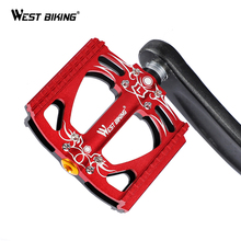 WEST BIKING Bicycle Pedals Anti-slip Aluminum Alloy Mounta MTB Road Bike Pedal Sealed Bearing Bicicleta Cycling Bike Pedals west biking bike plastic pedals mtb bmx road montane bicycle platform pedals bike lightweight bicycle performance pedals