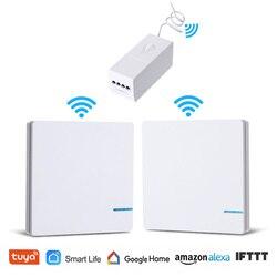 Draadloze Lichtschakelaar WiFi Afstandsbediening Tuya Smart Leven Lamp Muur Schakelaar Waterdicht Alexa Echo Google Thuis Voice Controle
