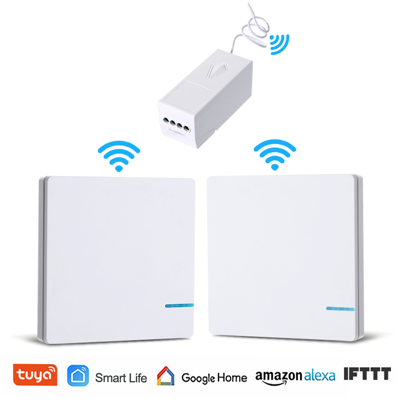 Wireless Light Switch WiFi Remote Control Tuya Smart Life Lamp Wall Switch Waterproof Alexa Echo Google Home Voice Control