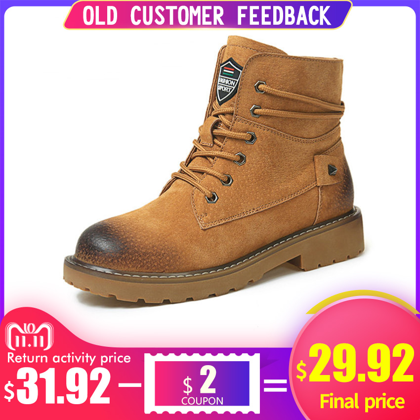 BIMUDUIYU Brand Autumn Winter Genuine Leather Pig Suede Ankle Boots High Quality Wipe Color Fashion Women's Boots New Snow Boots bimuduiyu new arrival fashion handmade super warm autumnwinter men shoes casual british style ankle boots wipe color snow boots