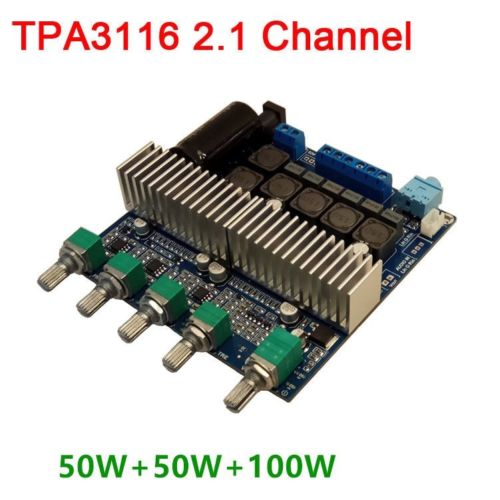 TPA3116 2.1 Channel 12V 100W+50W+50W Audio Speaker HIFI Digital Amplifier BoardTPA3116 2.1 Channel 12V 100W+50W+50W Audio Speaker HIFI Digital Amplifier Board
