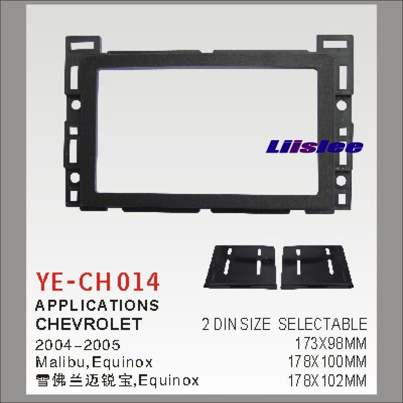 Liislee For Chevrolet Malibu Equinox 2004~2005 Aftermarket Radio Dash Board Kit 2 DIN ABS Plastic Fascias Car Audio Panel Frame