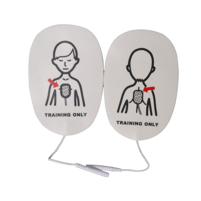 New 50Packs/Lot Healthcare First Aid Training Replacement Pads Children Training Universal Trainer Patches For Emergency Use