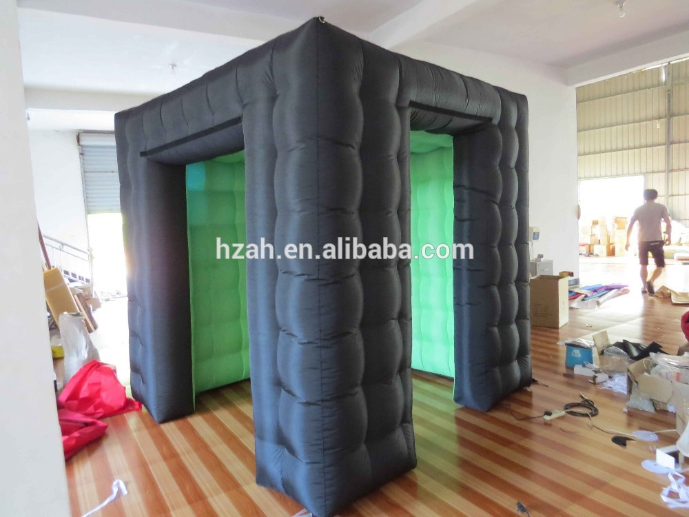 2.5*2.5m Black Inflatable Photo Booth Lights for Sale free shipping black inflatable cheap foldable photo booth for wedding party usage