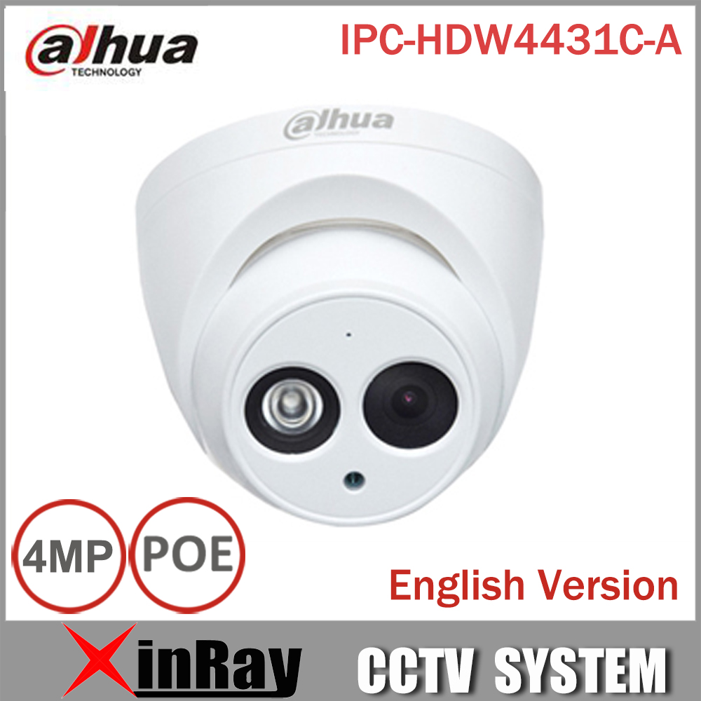 ФОТО DaHua IPC-HDW4431C-A POE Network IR Mini Dome IP Camera With Built-in Micro Full HD 1080P 4MP CCTV Camera
