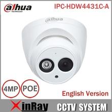 DaHua IPC-HDW4431C-A POE Réseau IR Mini Dôme IP Caméra Avec Built-In Micro Full HD 1080 P 4MP CCTV Caméra