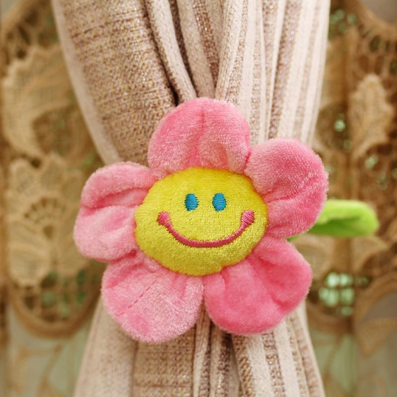 10pcs 커튼 액세서리 홈 장식 귀여운 미소 만화 - 동물 인형 - 사진 2