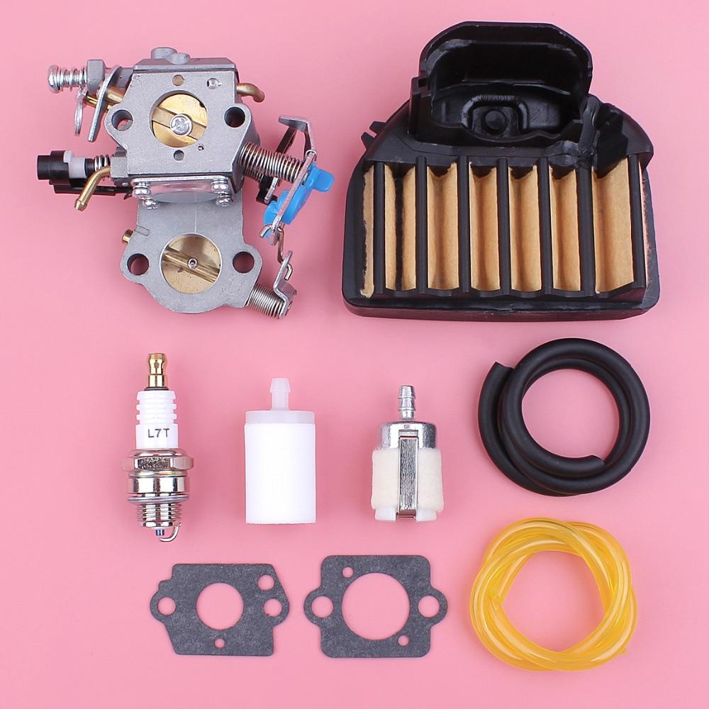 Carburateur carburateur pour Husqvarna 455 E Rancher 460 Air filtre ligne tuyau bougie joint Kit tronçonneuse pièce de rechange