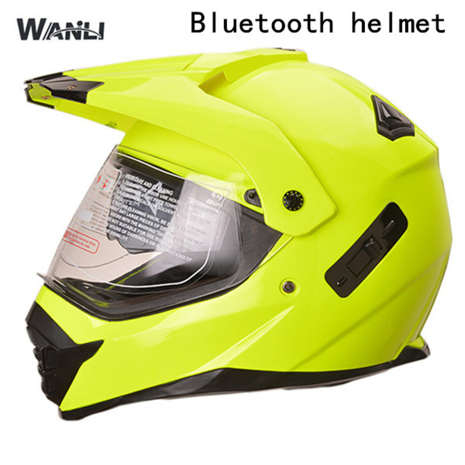 No2 free shipping bluetooth helmet for phone motorcycle helmet roadcross double visors racing helmets with sunny lens S M L XLL 1000m motorcycle helmet intercom bt s2 waterproof for wired wireless helmet