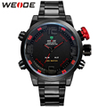WEIDE Brand Men Quartz Sports Watches Fashion Casual Led Digital Watch Dual Time Zone Multi-function Waterproof Wristwatches