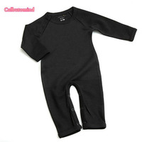 Culbutomind baby Soft Solid Romper Unisex Comfortable Boy Girl Romper 0~12M