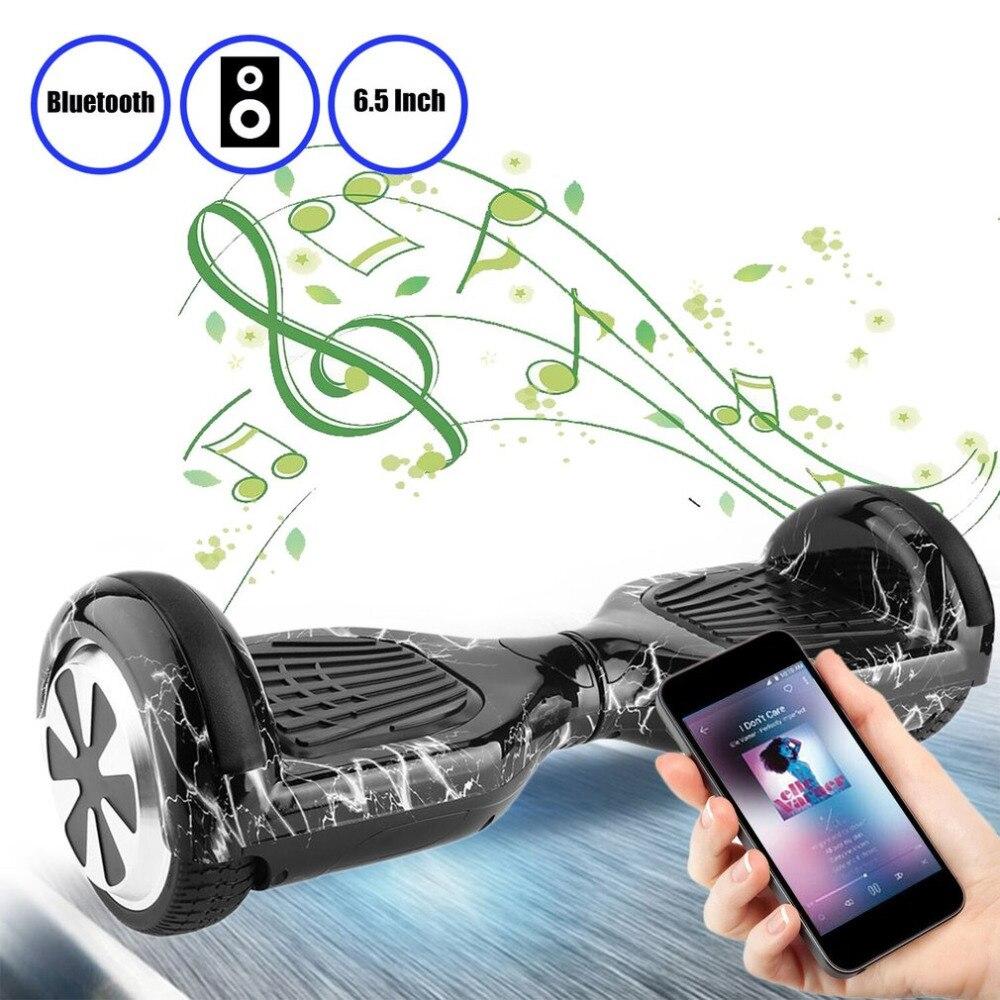 Auto Équilibre Scooters 6.5 Pouce hoverboard Bluetooth Haut-Parleur E-Scooter LED Électrique Skate Board Avec Télécommande