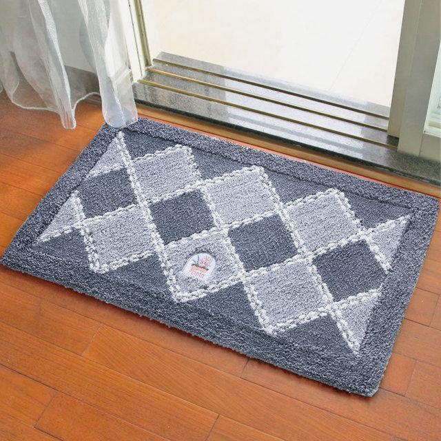 Teppich Für Wohnzimmer Schlafzimmer Coole Blau Grau Braun Mint Rosa Raute  Samt Wildleder Matten Tapetes De