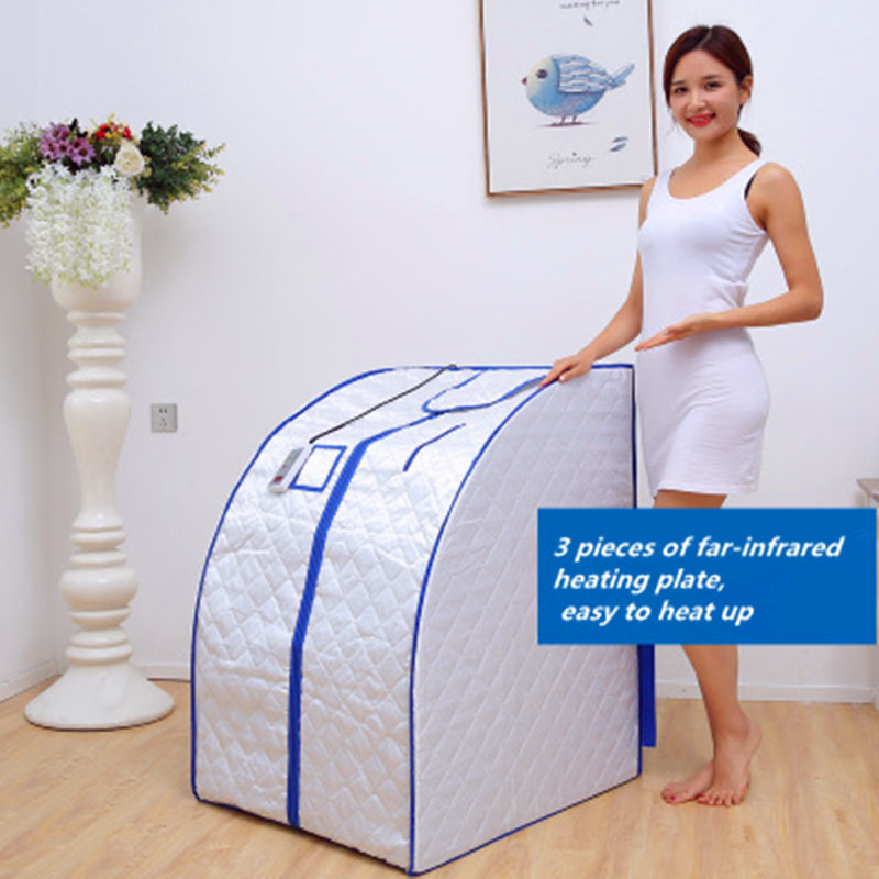 Portable Far Infrared Spa Sauna Weight Loss Negative Ion Detox Therapy Personal Sauna Room Folding Chair Infrared Sauna Spa Tubs & Sauna Rooms