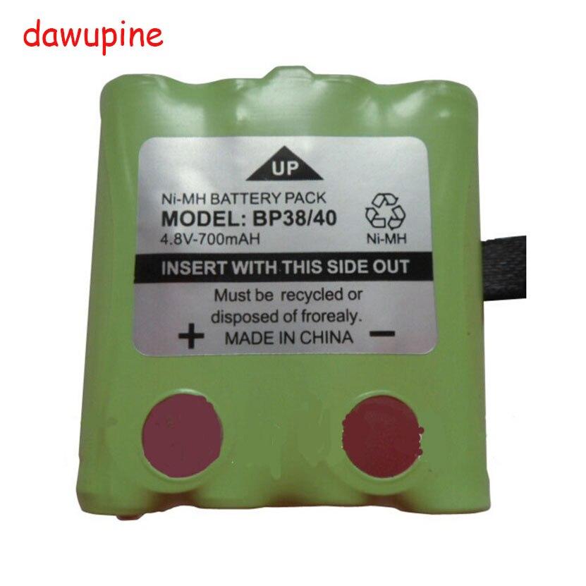 dawupine 10PCS 4.8V 700MAH NI-MH Battery For Uniden BP-38 BP-40 BT-537 GMR radio FOR MOTOROLA interphone interco walkie-talkie